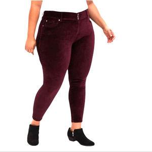 NWT Torrid Stretch High Rise Jeggings Jeans Velvet